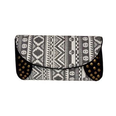 Spice Art Women's Stylish Black Handloom Party Clutch Evening Bag並行輸入品 送料無料