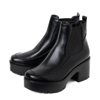 R&E / 【20AW新作】【R&E】ベルト付厚底サイドゴアブーツ WOMEN シューズ > ブーツ