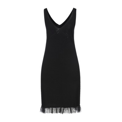 ツインセット シモーナ バルビエリ TWINSET ミニワンピース&ドレス ブラック M レーヨン 70% / ナイロン 30% ミニワンピース&ド