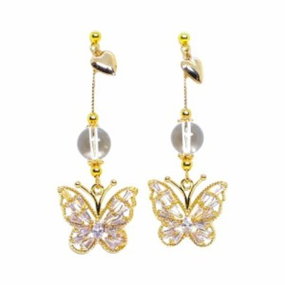 メノ LA MENO レディース イヤリング・ピアス ドロップピアス ジュエリー・アクセサリー Valentine Butterfly Drop Earrings Gold