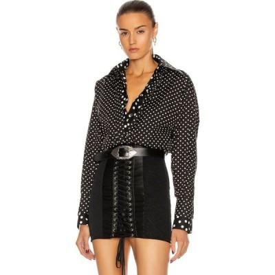 ドルチェ&ガッバーナ Dolce & Gabbana レディース ブラウス・シャツ トップス polka dot long sleeve blouse Black/White