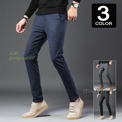 テーパードパンツ メンズ スリム 春夏 40代 ズボン 30代 チェック柄 通勤 カジュアル 50代 ボトムス