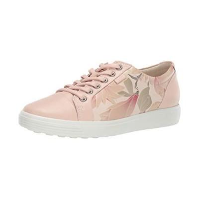 ECCO Women's Soft 7 Sneaker, Rose Dust Floral, 10-10.5【並行輸入品】