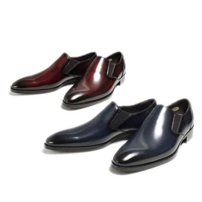 即日発送可 FRANCO LUZI TH870 フランコルッチ 日本製 牛革 スリッポン ビジネスシューズ 本革 革靴 紳士靴 社会人 牛革靴 メンズシューズ 2色カラー
