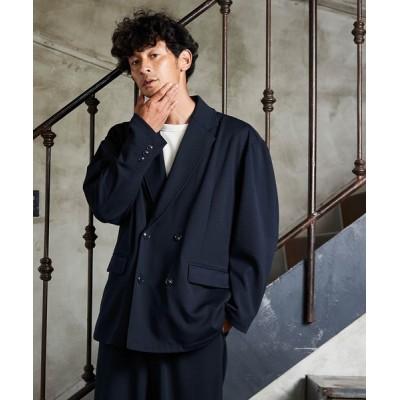 Loungewear tokyo / ジョーゼットストレッチオーバーサイズダブルテーラード 2Bジャケット MEN ジャケット/アウター > テーラードジャケット