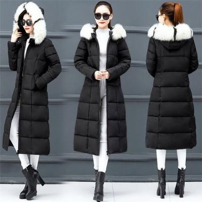 ダウンコートロングコートレディースオシャレコートアウター膝下ダウンジャケット韓国風大きいサイズ秋冬30代40代5L通勤