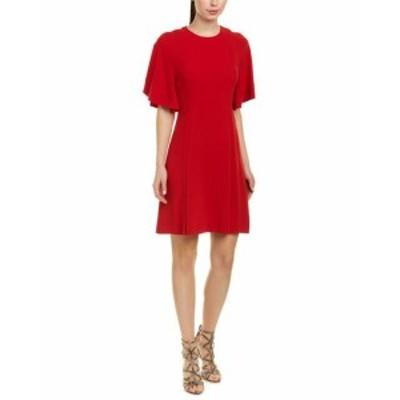 Red  ファッション ドレス Sandro Yoko Shift Dress 1 Red