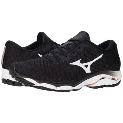 ミズノ Wave Inspire 16 WAVEKNIT メンズ スニーカー 靴 シューズ Black/White