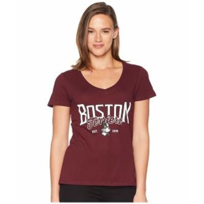 チャンピオン レディース シャツ トップス Boston College Eagles University V-Neck Tee Maroon