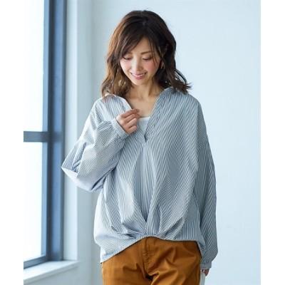 2点セット(バックレース裾タックシャツ+タンクトップ) (ブラウス)Blouses, Shirts, テレワーク, 在宅, リモート
