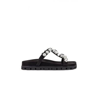 ミュウミュウ Miu Miu レディース サンダル・ミュール シューズ・靴 jewel slides Black