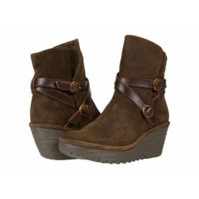 FLY LONDON フライロンドン レディース 女性用 シューズ 靴 ブーツ アンクル ショートブーツ YEMO274FLY Sludge/Olive Oil【送料無料】