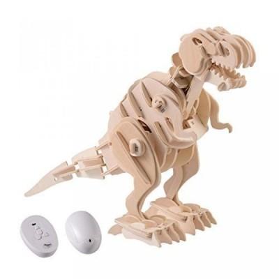 【送料無料】Qaba Robotic 3D Wooden Dinosaur Puzzle - Tyrannosaurus Rex 正規輸入品