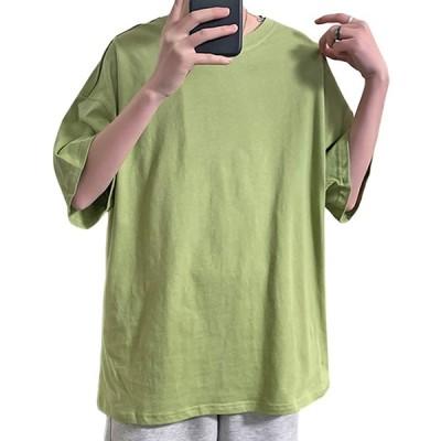 [リディーコロ] 半袖 ビックシルエット オーバーサイズ カラフル カラー 色 ラウンドネック クルーネック Tシャツ カットソー お洒落トップス ゆ
