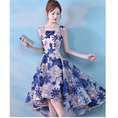 パーティードレスミモレドレス結婚式ドレスワンピース袖なし二次会ドレスウエディングドレスフォーマルドレスお呼ばれ大きいサイズ不規則