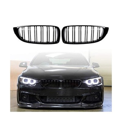 Zealhot Front Kidney Grille Fit for 2013-2018 BMW 4 Series F32 F33 F36 F80 F82 F83 428i 430i 435i 440i Replacement Grill (GLOSS BLACK)