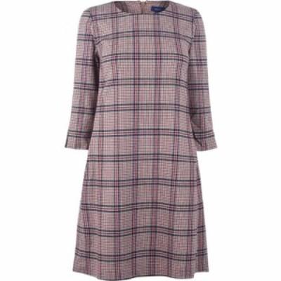 ガント Gant レディース ワンピース ワンピース・ドレス Wool Check Dress Warm Khaki