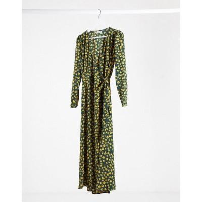ミニマム ミディドレス レディース Minimum midi dress in spotty green エイソス ASOS