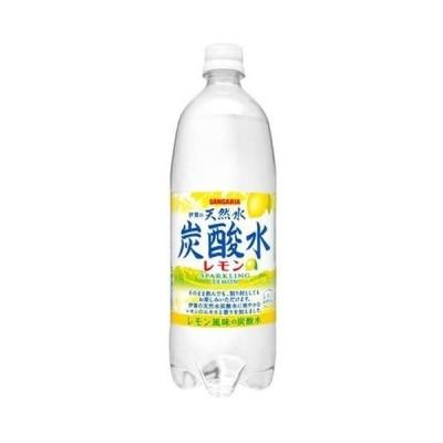 【2CS】サンガリア伊賀の天然水炭酸水レモンペット1000ml×24 日本サンガリア