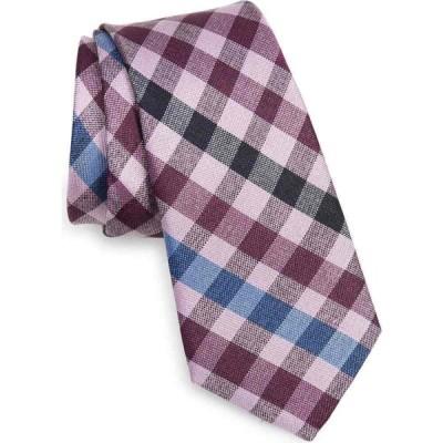 ノードストローム NORDSTROM メンズ ネクタイ Nader Check Silk Tie Magenta