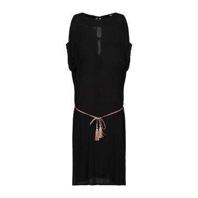 PAOLA PRATA 7分丈ワンピース・ドレス ブラック S レーヨン 100% 7分丈ワンピース・ドレス