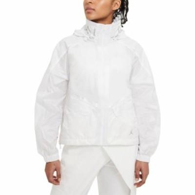 ナイキ ジョーダン JORDAN レディース ジャケット フード アウター Future Primal Hooded Crop Jacket White/Brushed Silver