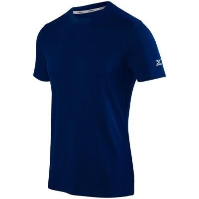 ミズノ シャツ トップス メンズ Mizuno Men's Volleyball Attack T-Shirt 2.0 Navy