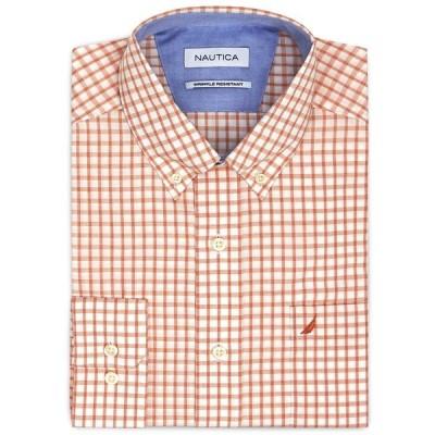 ドレスシャツ ノーティカ Nautica メンズ クラシック Fit Wrinkle Resistant Windowpane Check Shirt