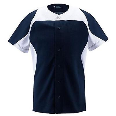 デサント ユニフォーム シャツ フルオープンシャツ ネイビー×Sホワイト DB-1014-NVSW <2020CON>