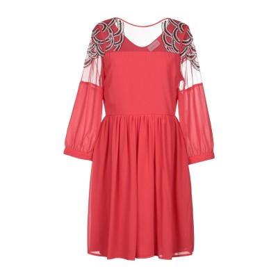 LA KORE ミニワンピース&ドレス コーラル 2 100% ポリエステル ミニワンピース&ドレス
