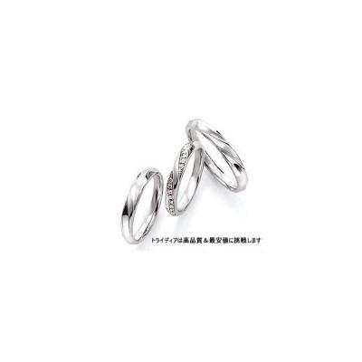 K18WGホワイトゴールドリング結婚指輪Wishウィッシュ写真WS504