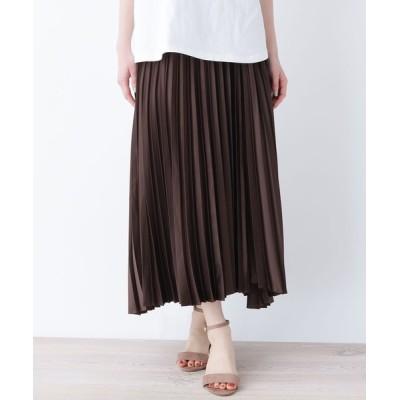 OPAQUE.CLIP / サテンラッッピングプリーツスカート【WEB限定サイズ】 WOMEN スカート > スカート