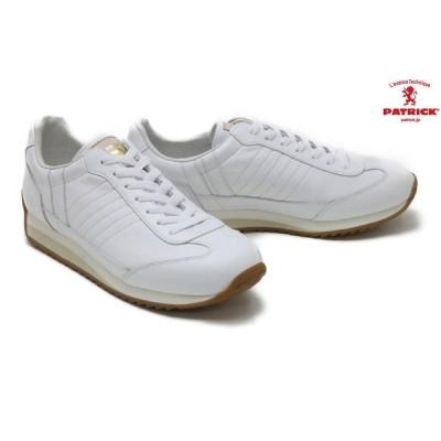 パトリック / PATRICK メンズ スニーカー 502300 マラソン+ゴールド_WH ホワイト