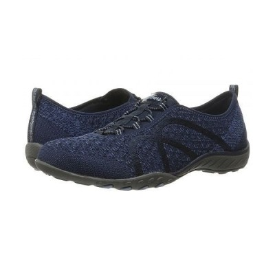 SKECHERS スケッチャーズ レディース 女性用 シューズ 靴 スニーカー 運動靴 Breathe-Easy - Fortuneknit - Navy