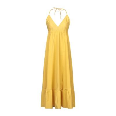 OTTOD'AME ロングワンピース&ドレス イエロー 38 コットン 100% ロングワンピース&ドレス