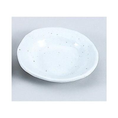 さざなみ白変型丸小皿 ポイント消化