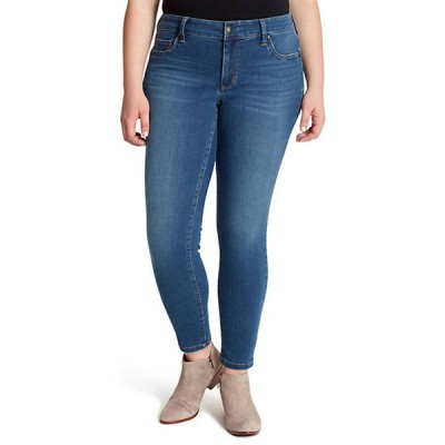 ジェシカシンプソン レディース デニムパンツ ボトムス Curvy Kiss Me Super Skinny Faux Pocket Jeans