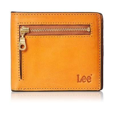 [リー] 二つ折り財布 高級イタリアンオイルレザー(牛革) 札入れ カードケース 小銭入れ ウォレット キャメル