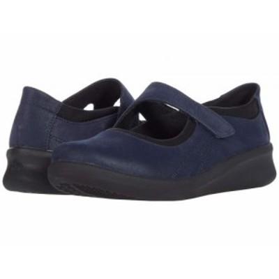 Clarks クラークス レディース 女性用 シューズ 靴 フラット Sillian 2.0 Joy Navy Synthetic【送料無料】