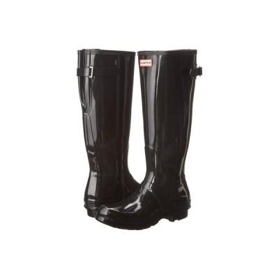 ハンター Hunter レディース レインシューズ・長靴 シューズ・靴 Original Back Adjustable Gloss Rain Boots Black