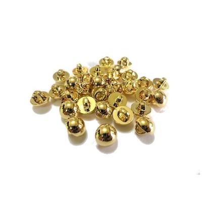 ボタン 手芸 素材 7mm 金色 プレ−ン 半円 メタル ABS(プラスチック系) ボタン 16個入り