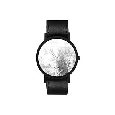 特別価格South Lane ステンレススチール スイス製クオーツ腕時計 レザーカーフスキンストラップ ブラック 20 (モデル:AW18-2-28)好評販売中