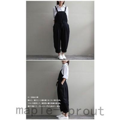 サロペットオーバーオールサロペットレディースサロペットオールインワンレディース大きいサイズオールインワン黒妊婦服