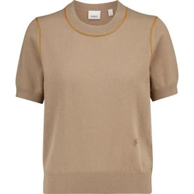 バーバリー Burberry レディース ニット・セーター トップス Cashmere sweater Archive Beige