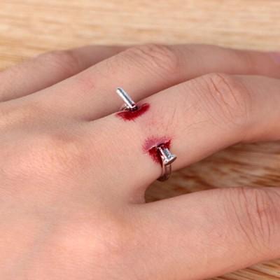調節可能なリングクリエイティブホラーリングシンプルなスタイルハロウィーンパーティーギフト用女性用