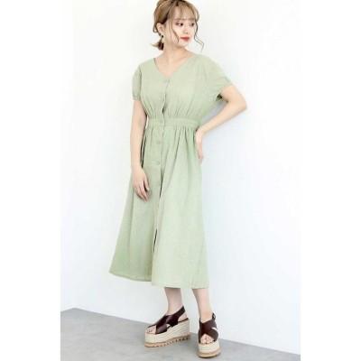 【フリーズマート】 ◆刺繍レースガウンワンピース レディース ライト グリーン M FREE'S MART
