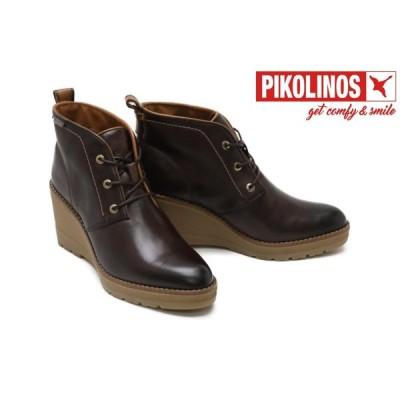 ピコリノス / PIKOLINOS レディース w7z-7925 ビセド/ウェッジソールショートブーツ ダークブラウン