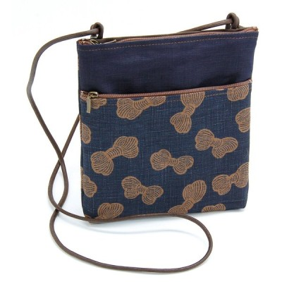 藍染かばん 婦人バッグ 藍渋2Pポシェット 糸巻き てまひま工房