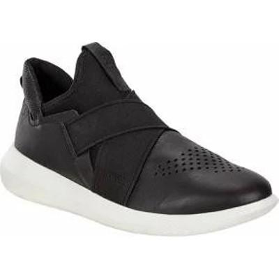 ECCO レディーススニーカー ECCO Scinapse Band Slip-On Sneaker Black/Black Yak Leat