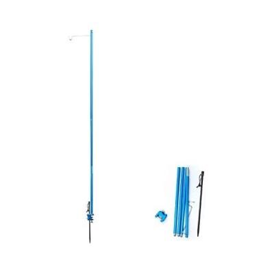 Azarxis ランタンスタンド テーブル 地面 通用 ランタンポール 4節 120cm 長さ調節可能 超軽量 コンパクト アルミ (ブルー)